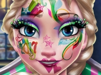Флеш игра Новогодний макияж для Эльзы