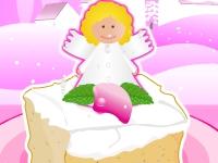 Флеш игра Новогодний тортик с ангелочком
