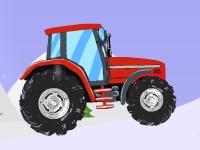 Флеш игра Новогодняя гонка на тракторе