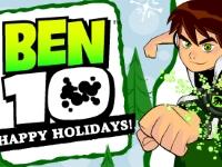 Флеш игра Новогодняя открытка с Беном 10