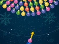 Флеш игра Новогодняя стрельба по вращающемся пузырям
