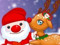 Флеш игра Новый Год с милым оленем