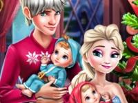 Флеш игра Новый год у Эльзы с семьей