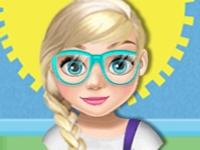Флеш игра Новый школьный шкафчик для Эльзы
