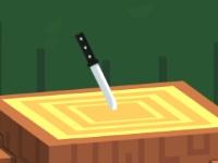 Флеш игра Нож в дерево
