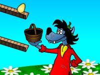 Флеш игра Ну погоди: Волк и яйца