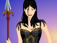 Флеш игра Одень девушку-воина