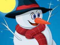 Флеш игра Одень счастливого снеговика