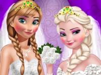 Флеш игра Одень сестричек на свадьбу