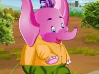 Флеш игра Одень слона