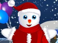 Флеш игра Одень снеговика на Рождество