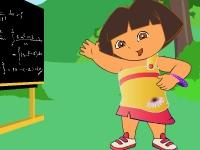 Флеш игра Одеваем Дашу учительницу