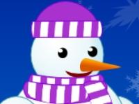 Флеш игра Одеваем Снеговика
