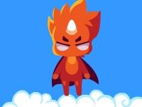 Флеш игра Огненная и ледяная звезда: 100 уровней вниз