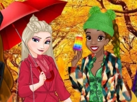 Флеш игра Осенний городской стиль для принцесс
