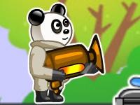 Флеш игра Панда с огнеметом