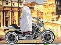 Флеш игра Папа Римский на байке