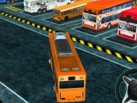 Флеш игра Парковка автобуса 3D