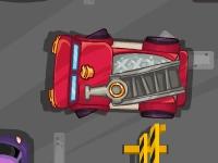 Флеш игра Парковка пожарной машины