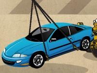 Флеш игра Парковка разбитых машин с помощью крана