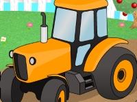 Флеш игра Парковка трактора на ферме