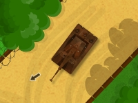 Флеш игра Парковка танка в военном лагере