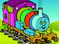 Флеш игра Паровозик Томас: Раскраска