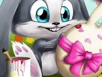 Флеш игра Пасхальный кролик: Пазл