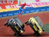 Флеш игра Пазл: Человек паук на авто