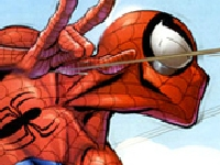 Флеш игра Пазл: человек-паук с паутиной