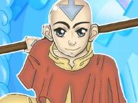 Флеш игра Пазл с Аватаром Аангом