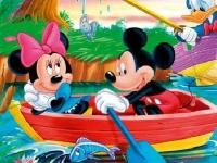 Флеш игра Пазл с Микки Маусом и его друзьями