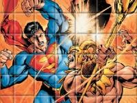Флеш игра Пазл с Суперменом