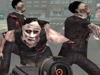 Флеш игра Перестрелка в масках: Атака зомби