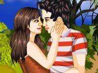 Флеш игра Первый поцелуй влюбленных