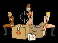 Флеш игра Пейнтбол с девушками в бикини