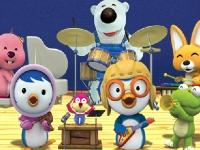 Флеш игра Пингвиненок Пороро: Пазл