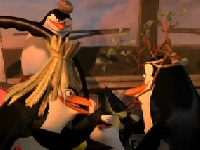Флеш игра Пингвины из Мадагаскара угоняют тачки