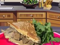 Флеш игра Пирог с говядиной и грибами