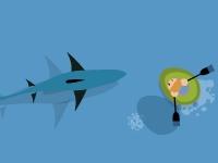 Флеш игра Плаванье с акулами