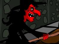 Флеш игра Побег из дома ведьмы