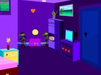 Флеш игра Побег из фиолетовой гостинной