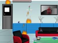 Флеш игра Побег из горящего дома