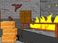 Флеш игра Побег из горящего помещения