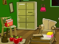 Флеш игра Побег из странной зеленой комнаты