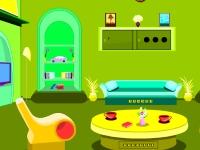 Флеш игра Побег из светло-зеленой комнаты