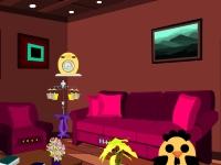Флеш игра Побег с коричневой гостинной