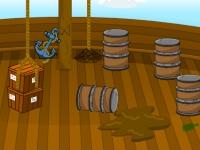 Флеш игра Побег с пиратского корабля