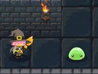 Флеш игра Побег желе из подземелья с героями