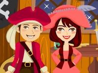 Флеш игра Поцелуи пиратов